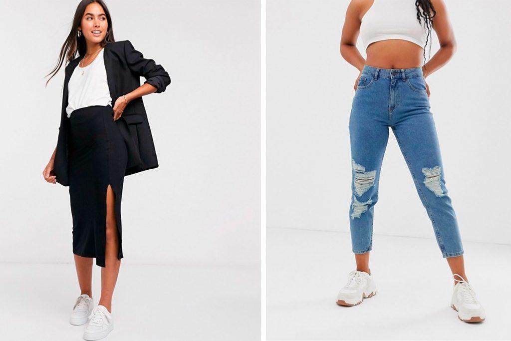 propuestas de putfit primavera con sneakers blancas mujer